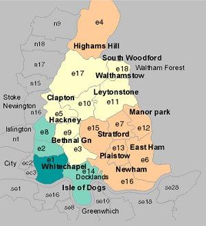 East London Uk Map.Damp Surveys East London Timber Mould Damp Inspections